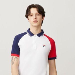 FILA Men's APOLLO White LOGO Polo Shirt